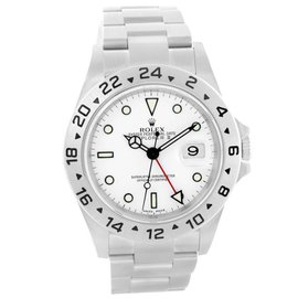 Rolex Explorer II 16570 Stainless Steel & White Dial Automatic 40mm Mens Watch