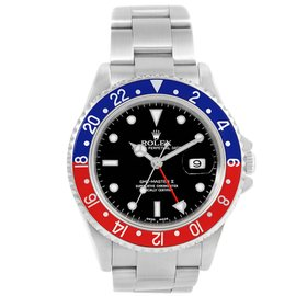 Rolex GMT Master II 16710 Stainless Steel with Black Dial 40mm Mens Watch