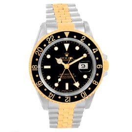 Rolex GMT Master II 16713 18K Yellow Gold & Stainless Steel 40mm Mens Watch