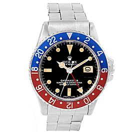 Rolex GMT Master 1675 Stainless Steel 40mm Automatic Vintage Mens Watch