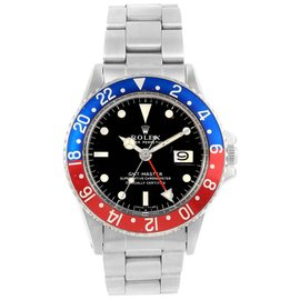Rolex GMT Master 1675 Stainless Steel 40mm Automatic Mens Vintage Watch
