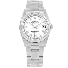 Rolex Datejust 68240 Stainless Steel White Roman Dial 31mm Womens Watch