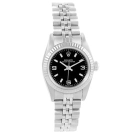 Rolex Non-Date 76094 Stainless Steel and 18K White Gold 24mm Automatic Women Watch