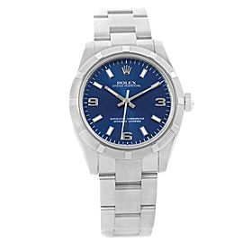 Rolex Oyster Perpetual 177210 Stainless Steel with Blue Dial 31mm Womens Watch
