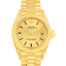 Rolex Oyster Perpetual Datejust 6917 14K Yellow Gold Automatic 24mm Womens Watch