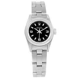 Rolex Oyster Perpetual 67180 Stainless Steel 24mm Womens Watch