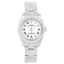Rolex Oyster Perpetual 176200 Stainless Steel White Dial Automatic 26mm Womens Watch