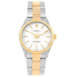 Rolex Oyster Perpetual 1005 18K Yellow Gold and Stainless Steel 34mm Automatic Vintage Mens Watch