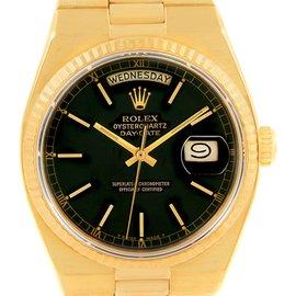 Rolex Oysterquartz 19018 18K Yellow Gold Quartz 36mm Mens Watch