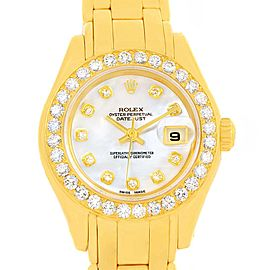 Rolex Pearlmaster 69298 18K Yellow Gold with Diamond Automatic 29mm Womens Watch