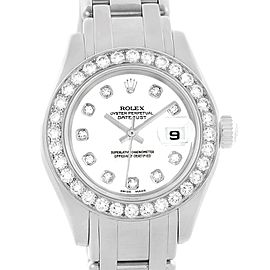 Rolex Datejust 80299 18K White Gold & White Diamond Dial 29mm Womens Watch