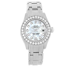 Rolex Datejust 80299 18K White Gold Mother of Pearl Diamond Dial 29mm Womens Watch