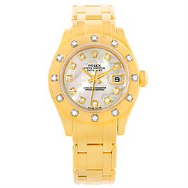 Rolex Pearlmaster 80318 18K Yellow Gold 29mm Womens Watch