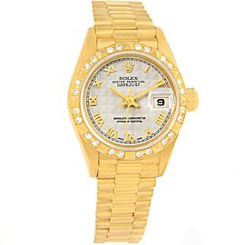Rolex President Datejust 69258 18K Yellow Gold 26mm Womens Watch