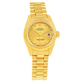 Rolex President Datejust 179178 18K Yellow Gold 26mm Womens Watch