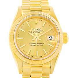 Rolex President Datejust 69178 18K Yellow Gold Automatic 26mm Womens Watch