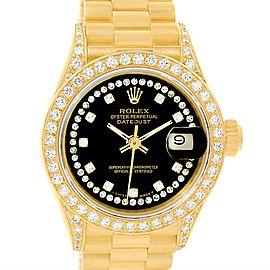Rolex President Datejust 69238 18K Yellow Gold Automatic 26mm Womens Watch