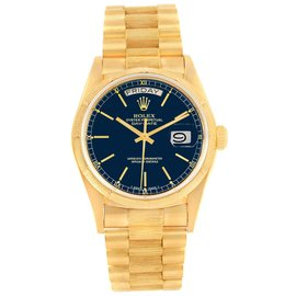 Rolex President Day-Date 18078 18K Yellow Gold 36mm Automatic Mens Vintage Watch