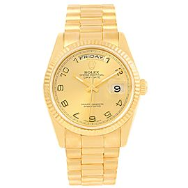 Rolex 118238 President Day-Date 18K Yellow Gold Arabic Numerals 36mm Mens Watch