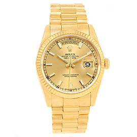 Rolex Day-Date 118238 18K Yellow Gold & Champagne Dial 36mm Mens Watch