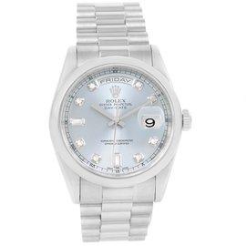 Rolex President Day-Date 118206 Platinum 36mm Mens Watch