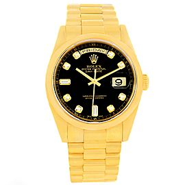 Rolex President Day Date 118208 18K Yellow Gold 36mm Mens Watch