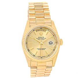 Rolex President Day-Date 18238 18K Yellow Gold 36mm Automatic Mens Watch