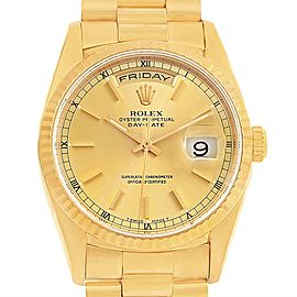Rolex President Day-Date 18238 18K Yellow Gold Champagne Dial 36mm Mens Watch