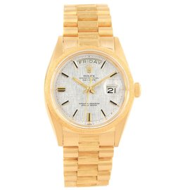Rolex President Day-Date 1807 18K Yellow Gold 36mm Automatic Vintage Mens Watch