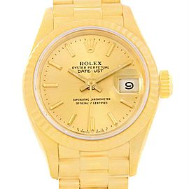 Rolex President 69178 18K Yellow Gold Automatic 26mm Womens Watch