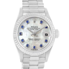 Rolex Datejust 69179 18K White Gold & Mother of Pearl Dial 26mm Womens Watch
