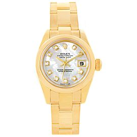 Rolex Datejust President 179168 18K Yellow Gold Mother of Pearl Diamond Dial Automatic 26mm Womens Watch
