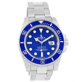 Rolex Submariner 116619 18K White Gold & Ceramic Blue Dial Automatic 40mm Mens Watch