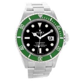 Rolex Submariner 50th Anniversary Kermit Green Bezel 16610LV Stainless Steel 40mm Automatic Mens Watch