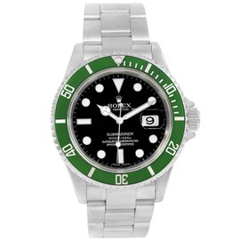 Rolex Submariner 116610LV Stainless Steel with Green Dial 40mm Mens Watch