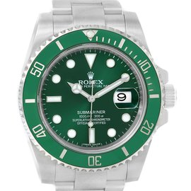 Rolex Submariner 116610LV Stainless Steel & Green Dial 40mm Mens Watch