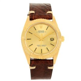 Rolex Turnograph 1625 18K Yellow Gold Vintage 36mm Mens Watch
