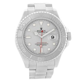 Rolex Yachtmaster 16622 Stainless Steel & Platinum Dial 40mm Mens Watch