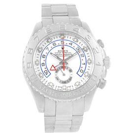 Rolex Yachtmaster II Regatta Chronograph 116689 18K White Gold Platinum 44m Mens Automatic Watch