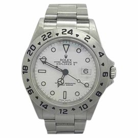Rolex Explorer II 16570T Stainless Steel with White Dial Automatic 40mm Mens Watch