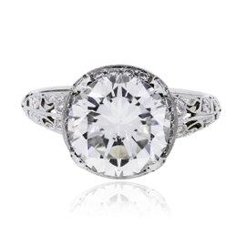 Platinum with 3.01ct. Diamond Ring Size 5.5