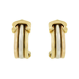 Cartier Trinity 18k Gold Huggie Earrings