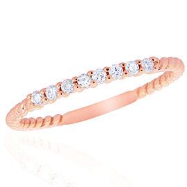 14k Rose Gold Diamond Ring Size 7