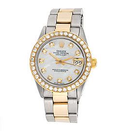 Rolex Datejust 69178 18k Yellow Gold & Stainless Steel with Custom Diamonds 31mm Womens Watch
