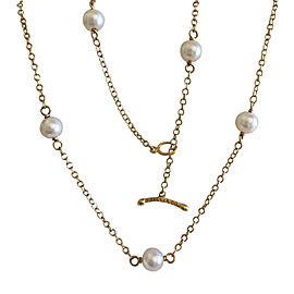 Tiffany Co. Elsa Peretti Gold & Pearl Necklace