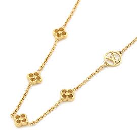 Louis Vuitton Gold Tone Hardware Flower Necklace