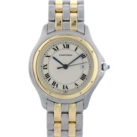 Cartier Panthere Cougar 118000R 18K Yellow Gold & Stainless Steel Quartz 33mm Unisex Watch