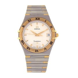 Omega Constellation 396.1201 Stainless Steel and 18K Yellow Gold Quartz 34mm Womens Watch