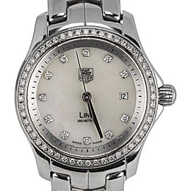 Tag Heuer Link WJF1319.BA0572 Stainless Steel with Diamond Quartz 27mm Womens Watch