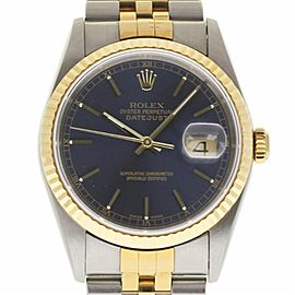 Rolex Datejust 16233 Stainless Steel / 18K Yellow Gold Automatic 36mm Mens Watch